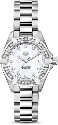 Tag Heuer Aquaracer Diamond Bezel Watch, 27mm