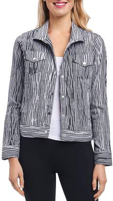 Foxcroft Tina Crinkled Gingham Jacket