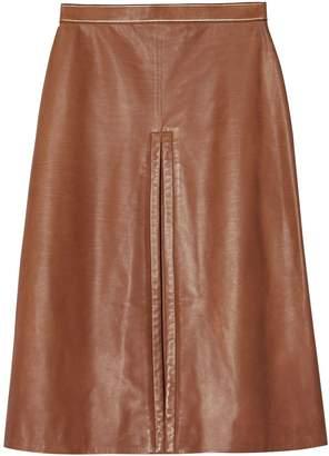Burberry box pleat mid-length skirt