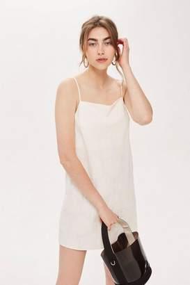Topshop Jacquard Slip Dress