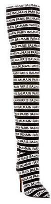 Balmain Janis Logo Over-The-Knee Boots