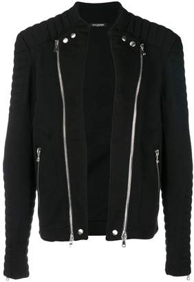 Balmain fitted biker jacket