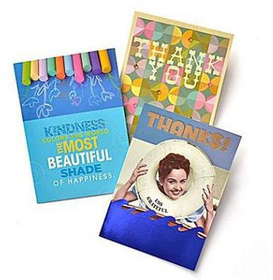 Buy GARTNER STUDIOS Gartner Greetings Premium Greeting Cards, 3 pack - Thank You!