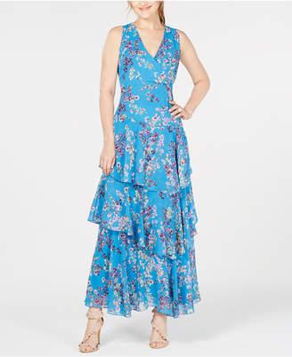 INC International Concepts I.n.c. Asymmetrical Ruffle Maxi Dress