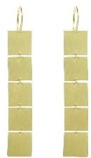 Irene Neuwirth Five Square Earrings - Yellow Gold
