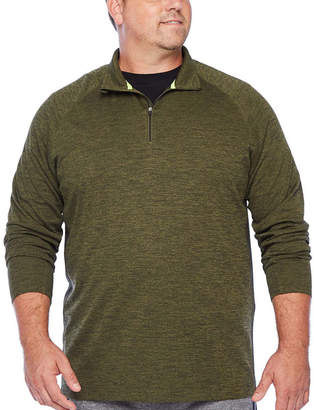THE FOUNDRY SUPPLY CO. The Foundry Big & Tall Supply Co. Mens Mock Neck Long Sleeve Quarter-Zip Pullover Big and Tall