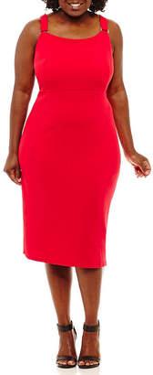 Bold Elements Hardware Sleeveless Bodycon Dress - Plus