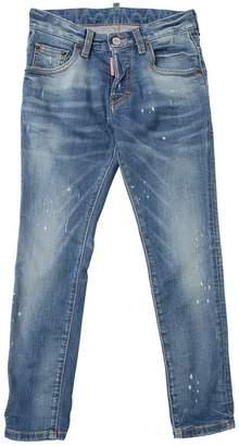 DSQUARED2 Painted Stretch Cotton Denim Jeans