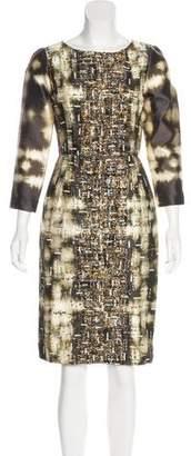 Oscar de la Renta Silk-Blend Midi Dress