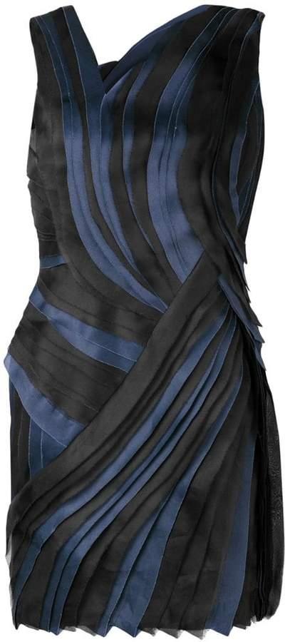 pleated asymmetric mini dress