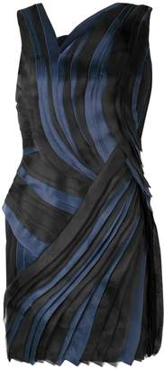 Lanvin pleated asymmetric mini dress