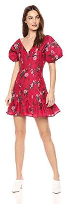 Keepsake The Label Women's Untouchable V Neck Puff Short Sleeve Mini Dress