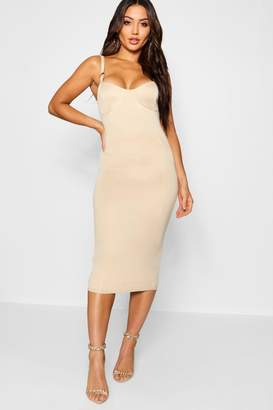 boohoo O Ring Detail Midi Dress