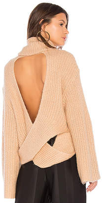 KENDALL + KYLIE Cross Back Turtleneck Sweater
