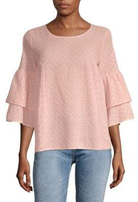 Lumie Tiered Cold-Shoulder Top