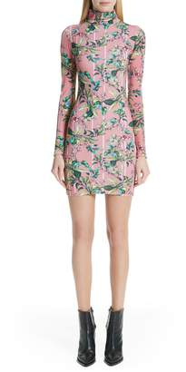 Vetements Floral Print Body-Con Dress