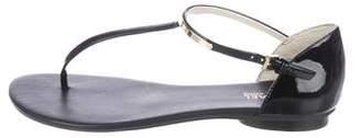 MICHAEL Michael Kors Patent Leather Thong Sandals