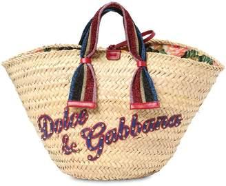 Dolce & Gabbana Kendra Raffia & Leather Tote Bag
