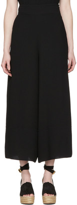 See by Chloé Black Wide Trousers $375 thestylecure.com