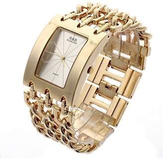 Dolce & Gabbana THE BRAND G&D Women's Stainless Steel Band Multi-Chain Gold-Tone Bracelet Watch