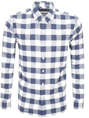 Levi's Levis Long Sleeved Check Shirt Navy
