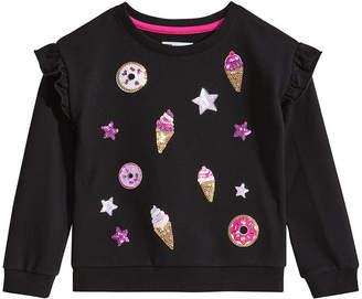 Epic Threads Toddler Girls Ice Cream Ruffled Sweatshirt, Created for Macy's