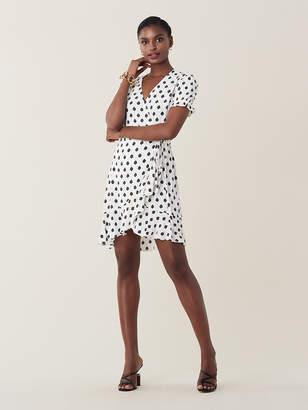 Diane von Furstenberg Kelly Ruffled Mini Wrap Dress