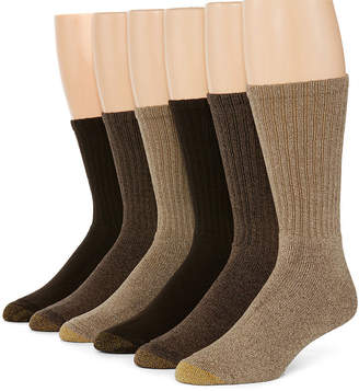 Gold Toe 6-pk. Mens Harrington Casual Crew Socks - Extended Size