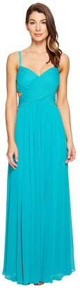 Laundry by Shelli Segal Crisscross Front Pleated Gown Women's Dress