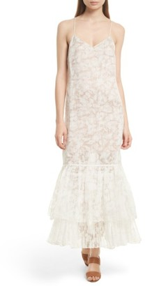 Women's Tracy Reese Floral Burnout Silk Maxi Slipdress $398 thestylecure.com
