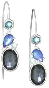 Ippolita Rock Candy Sterling Silver Stone Cluster Drop Earrings