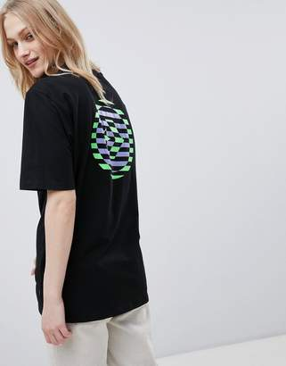 Converse Cons Skate Boarding T-Shirt In Black With Back Print