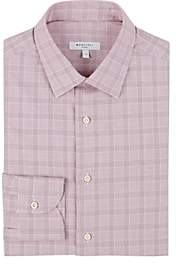 Boglioli Men's Prince Of Wales-Checked Cotton Poplin Dress Shirt - Red Pat.