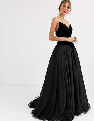 Jovani strapless prom dress