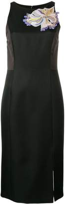 Emilio Pucci Panelled Mirabilis Embroidered Shift Dress