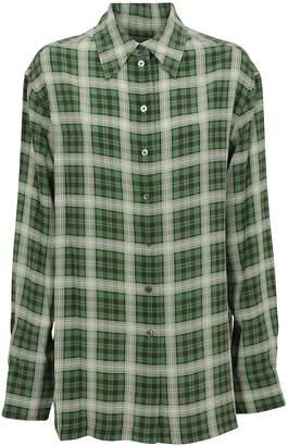 Marc Jacobs Oversized Plaid Button Down Shirt