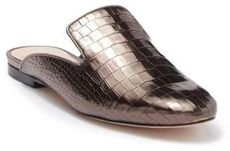 Schutz Avamel Croc Embossed Leather Mule Loafer