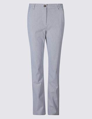 Marks and Spencer Cotton Rich Striped Chinos