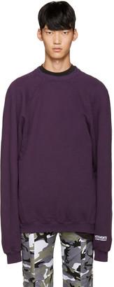 Vetements Purple 'Unskinny' Pullover $750 thestylecure.com
