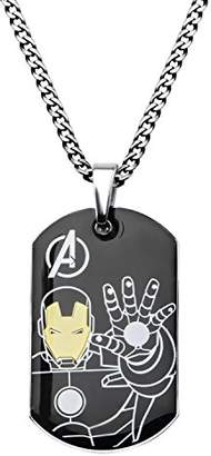 Iron Man Marvel Comics Men's Stainless Steel Ironman Dog Tag Chain Pendant Necklace