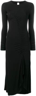Pinko ruched detail flared dress