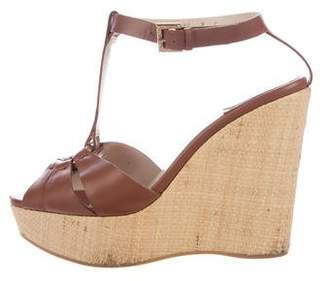 Salvatore Ferragamo Leather Platform Sandals