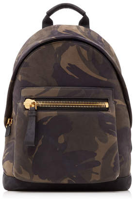 Tom Ford Men's Camouflage-Print Leather Backpack