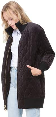 Juicy Couture Quilted Velour Puffer Coat