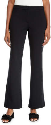 Laundry by Shelli Segal Mid-Rise Knit Flare-Leg Pants