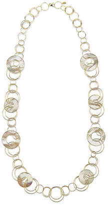 """Ippolita 18k Gold Polished Rock Candy Multi-Slice Necklace in Mother-of-Pearl, 40"""""""
