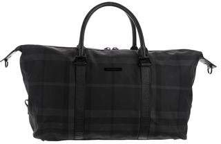 Burberry Leather-Trimmed Nylon Duffel Bag