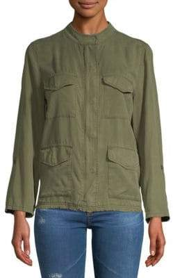 Sanctuary Fray-Trimmed Jacket