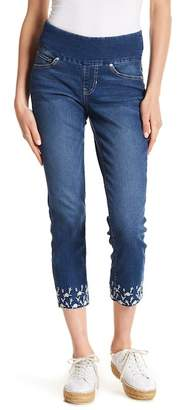 Jag Aaron Embroidered Cropped Jeans