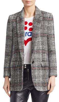Etoile Isabel Marant Ice Plaid Wool-Blend Blazer